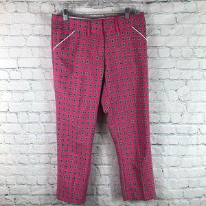 Peter Millar Wicking Print Cropped Golf Pants